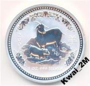 Австралийский серебряный доллар 2003г