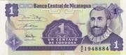 Банкнота 1 сентаво Никарагуа 1991 г.