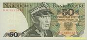 Банкнота 50 злотых Польша 1988 г.