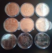 Набір 9 монет Збройні сили України в капсулах 10 грн 2018 2019 2020